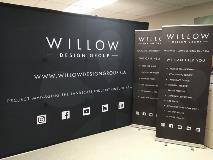 willow landscape tradeshow backdrop